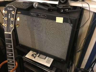 amp and electric guitar