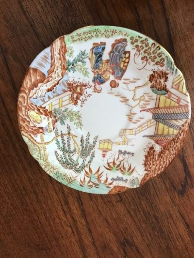 old china plate