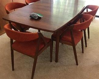 mid century dining table set