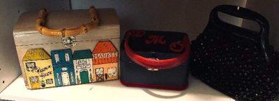 estate sale finds - old purses